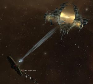 A Drifter scanning a Stargate.